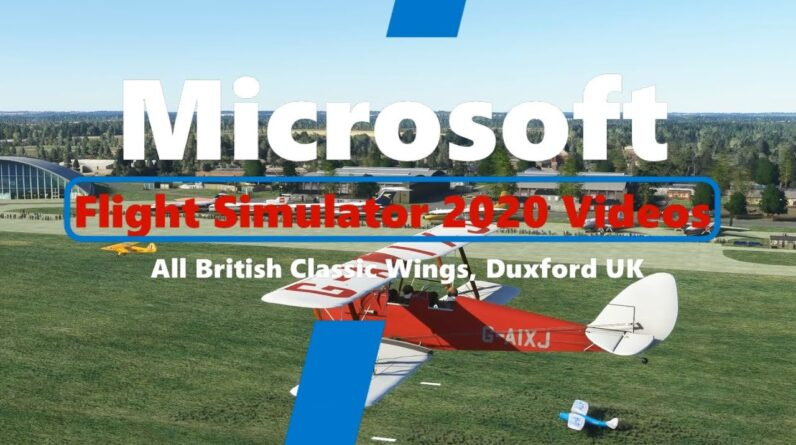 Microsoft Flight Simulator 2020 All British Classic Wings Fly-in - Duxford UK - Great New Scenery